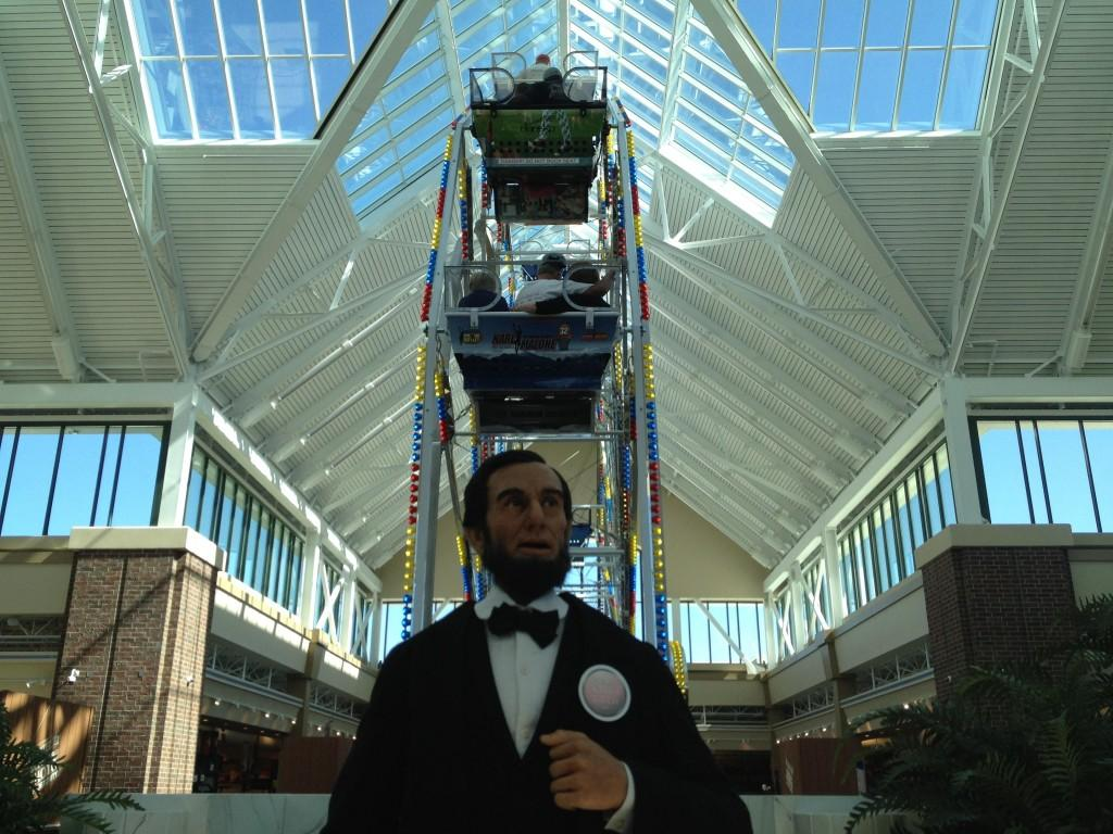 Life+size+Abraham+Lincoln+stands+in+front+of+the+ferris+wheel+at+Scheels.
