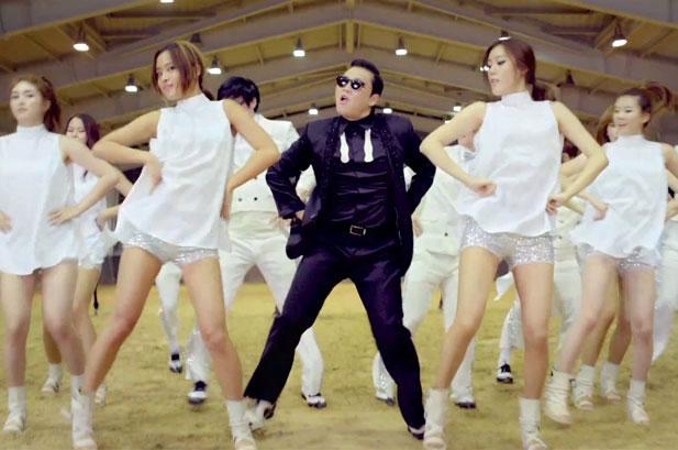 Korean pop star PSY dances his hit single Gangnam Style.