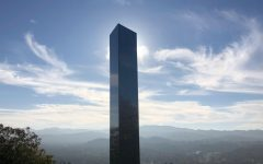 One of the monoliths standing atop Pine Mountain in California.