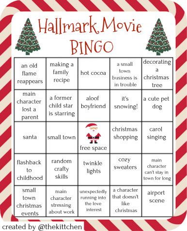 Pull out your Hallmark Bingo and anyone can enjoy cheesy Christmas movies!
