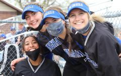 Bingham girls pose for a picture at a game against Jordan.