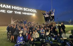 Bingham Track and Field Team poses for a photo.
