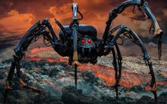 robot, spider, mechanical