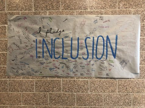 An inclusion poster made to support the Life Skills class.